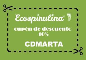 Cupón de descuento para comprar espirulina ecológica